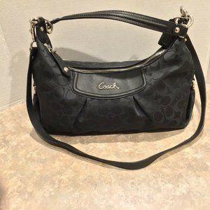 Coach Black C Opt. Shoulder Bag F19766 Handbag